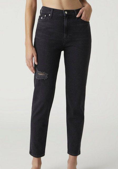 Hosen - Calvin Klein Jeans Mom Jeans »MOM JEAN« mit Calvin Klein Jeans Logo Badge ›  - Onlineshop OTTO