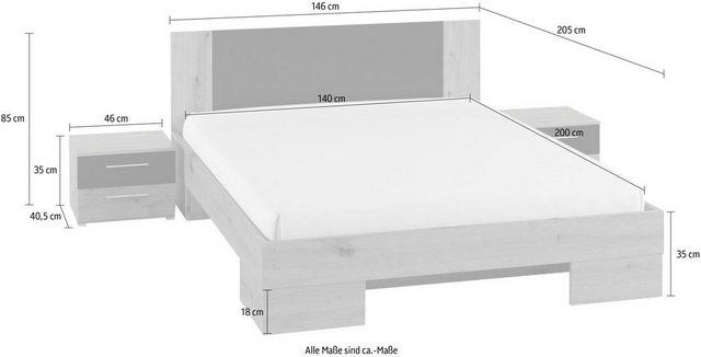 Schlafzimmer Sets - Schlafzimmer Set »Vera«, (3 tlg)  - Onlineshop OTTO