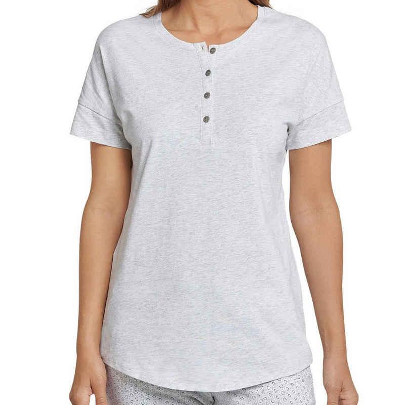Schiesser Pyjamaoberteil »Mix & Relax« Schlafanzug Shirt kurzarm - Locker geschnitten mit Knopfleiste, Angenehm auf der Haut, Schlafanzüge zum selber mixen