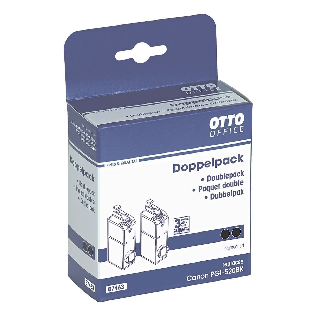 OTTO Office Doppelpack Tintenpatrone ersetzt Canon »PGI-520 PGBK«