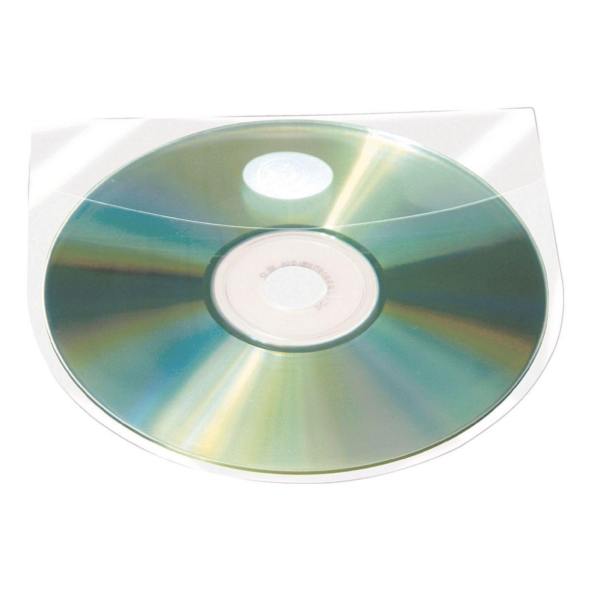 PROBECO 100 Selbstklebende CD/DVD/Blu-ray-Hüllen mit Selbstklebe...