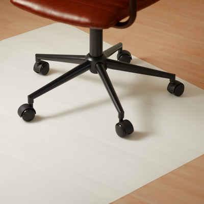 relaxdays Bodenschutzmatte »Eckige Bürostuhlunterlage in 3 Größen«