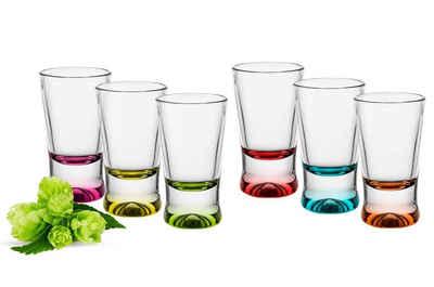 Sendez Schnapsglas »6 Schnapsgläser Tequilagläser bunte Gläser Schnaps Shots Stamper Wodkagläser«