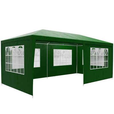 Casaria Partyzelt »Rimini«, grün 3x6m UV-Schutz 18m² Wasserabweisend 6 Seitenteile Pavillon Partyzelt Gartenzelt Festival