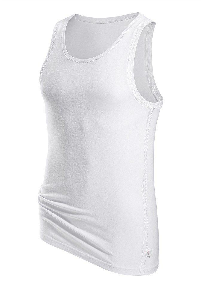 s.Oliver RED LABEL Bodywear Tanktop Markenwäsche in perfekter Passform glänzende Ziernähte in weiß