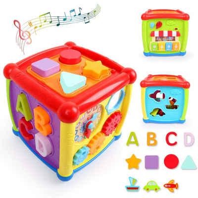 LBLA Lernspielzeug (1 Jahr 2 Jahren, 1-St., Entdeckerwürfel mit Licht und Musik), Entdeckerwürfel, Spielwürfel, Entdeckerwürfel