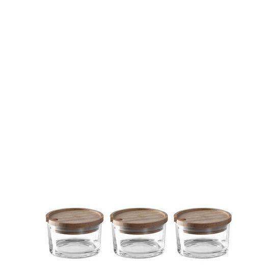 LEONARDO Vorratsdose »Geleedosen 3er-Set LIMITO«, Glas, (3-tlg)