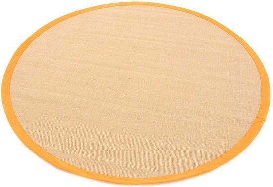 Sisalteppich »Sisal«, carpetfine, rund, Höhe 5 mm