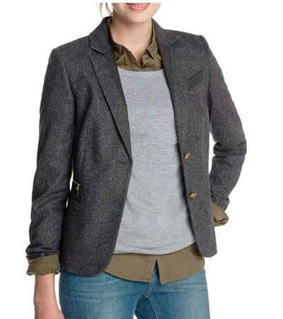 Esprit Kurzblazer »ESPRIT 2-Knopf-Blazer stilvolle Damen Business-Jacke mit Fischgrat-Muster Freizeit-Sakko Graphit«