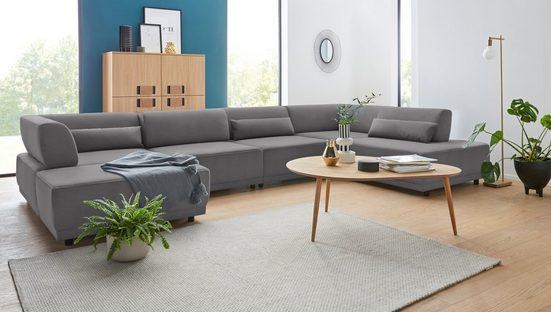 sit&more Wohnlandschaft, wahlweise mit Sitztiefenverstellung und Zierkissen