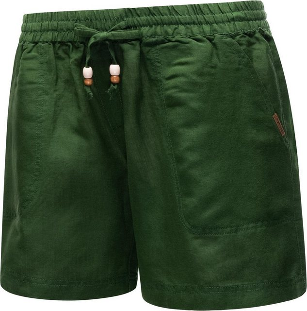 Hosen - Ragwear Shorts »Keito Organic« leichte kurze Leinenhose mit Tunnelzugband › grün  - Onlineshop OTTO