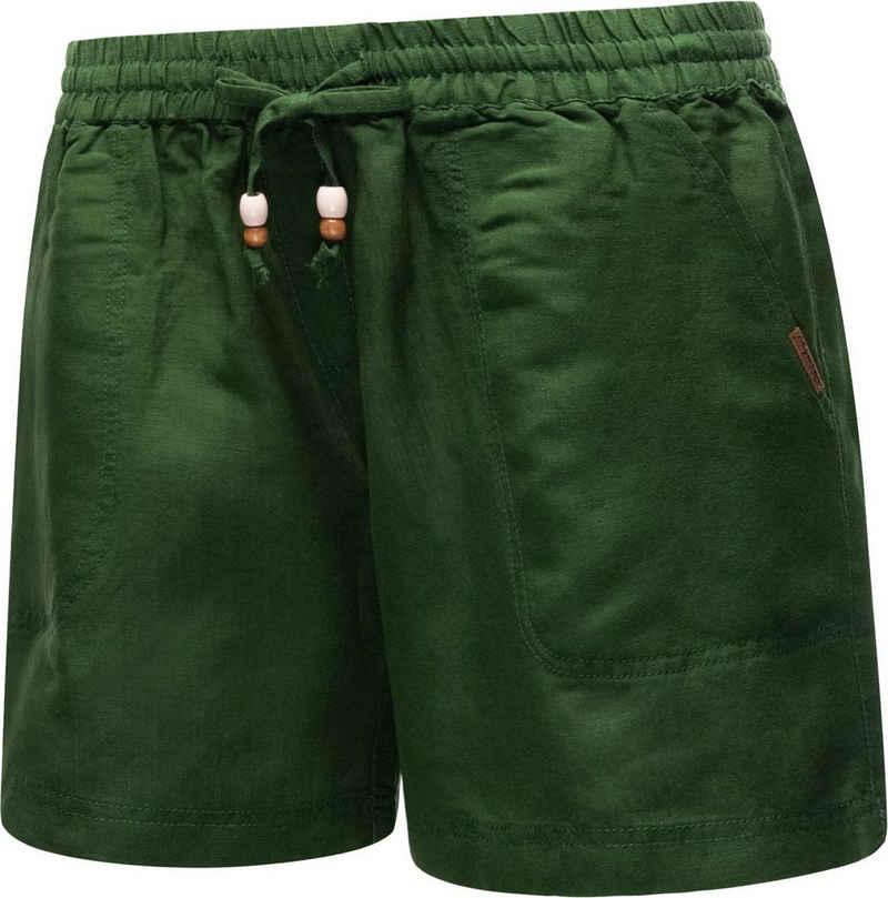 Ragwear Shorts »Keito Organic« leichte kurze Leinenhose mit Tunnelzugband