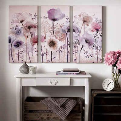 Art for the home Leinwandbild »Classic Poppy«, Blumen (Set, 3 Stück)