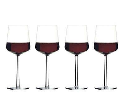 IITTALA Glas »iittala Essence Rotweinglas 45 cl, 4er Set«, Kristallglas