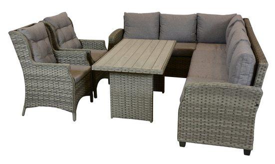 ebuy24 Gartenmöbelset »Oris Gartentisch, 2 Stühle und 1 Sofa.«