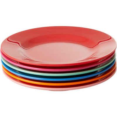 "rice Frühstücksteller »6-tlg. Melamin Teller-Set ""Choose Happy"", Ø20cm«"