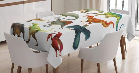 Abakuhaus Tischdecke »Personalisiert Farbfest Waschbar Für den Außen Bereich geeignet Klare Farben«, Dinosaurier Jurassic Zusammensetzung