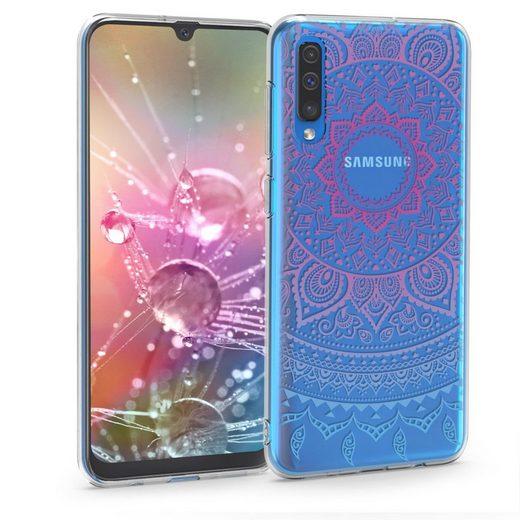 kwmobile Handyhülle, Hülle für Samsung Galaxy A50 - TPU Silikon Handy Schutzhülle Cover Case - Indische Sonne Design