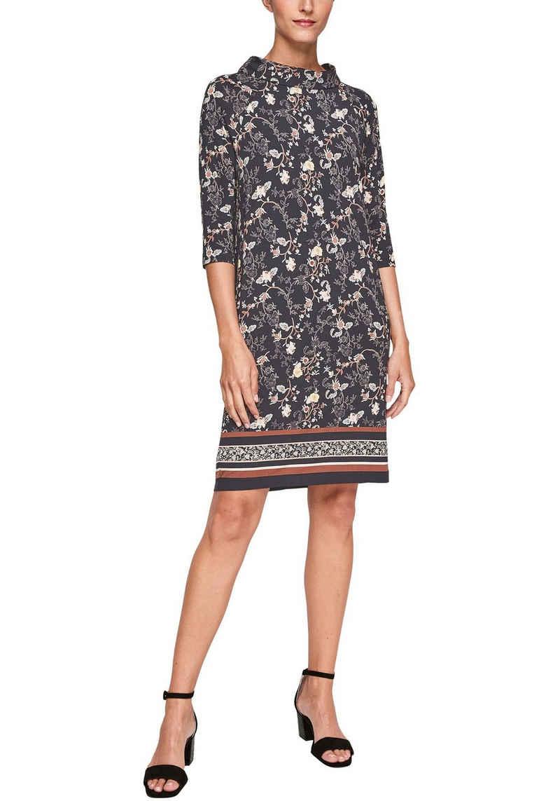 s.Oliver BLACK LABEL Jerseykleid mit floralem Muster