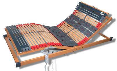 Teiltellerlattenrost, »Rhodos EL Komfort«, FMP Matratzenmanufaktur, 29 Leisten, Kopfteil motorisch verstellbar, Fußteil motorisch verstellbar, besonderer Komfort durch druckentlastende Tellerfederelemente