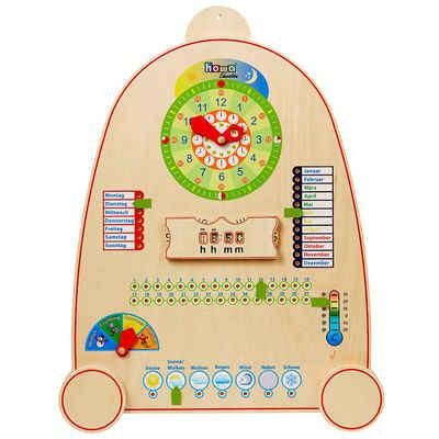 howa Lernspielzeug »Kalenderuhr«, Lernuhr aus Holz mit Kalender, Jahreszeiten und Wetter