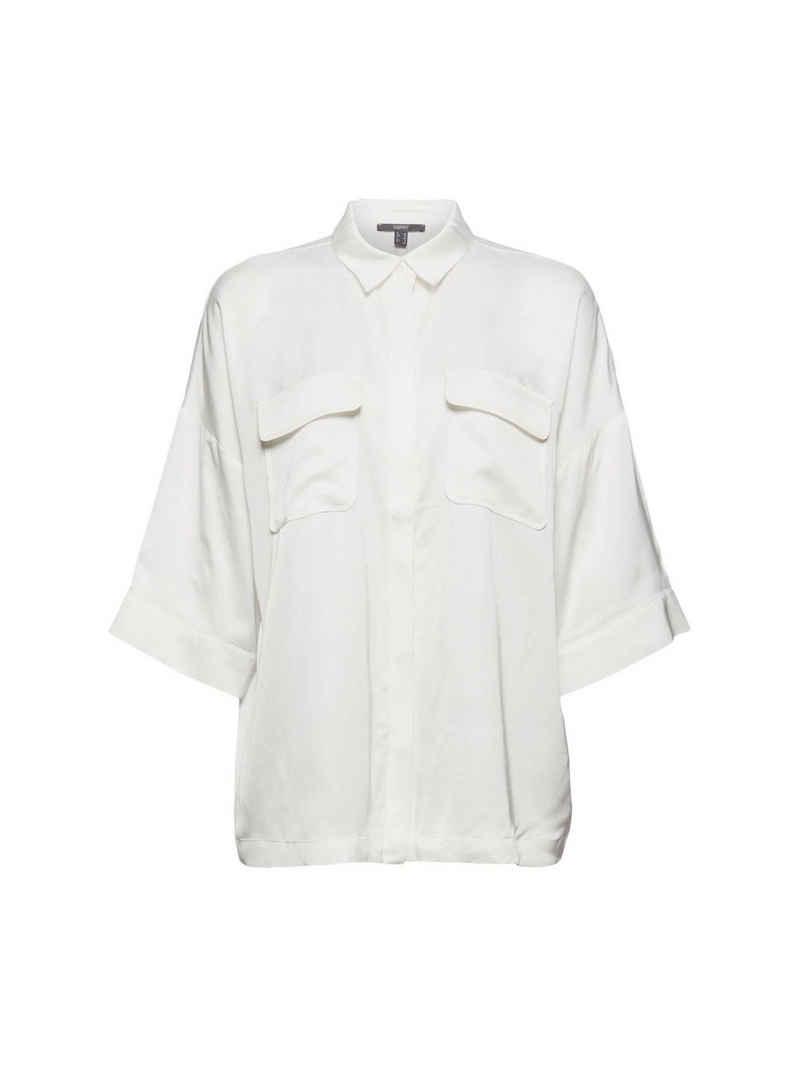 Esprit Collection Kurzarmbluse »Hemdbluse mit LENZING™ ECOVERO™«