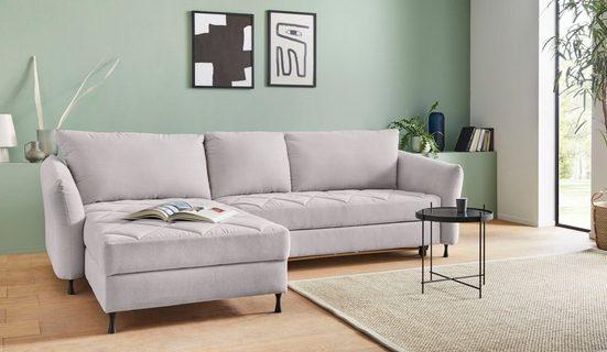 exxpo - sofa fashion Ecksofa, Steppung im Sitzbereich, Wahlweise mit Bettfunktion und Bettkasten