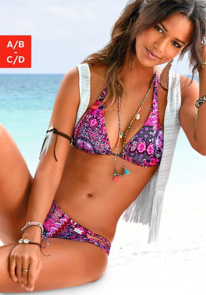Bademode - Buffalo Triangel Bikini Top »Shari«, mit Paisleydruck › lila  - Onlineshop OTTO