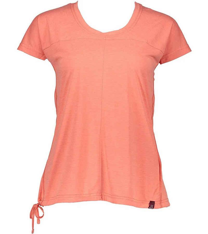 Haglöfs Funktionsshirt »Haglöfs Ridge Q Sport-Shirt cooles Damen Funktions-Shirt Trainings-Shirt Apricot«