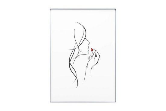 KUNSTLOFT Acrylglasbild »Rubinrote Küsse«, handgefertigtes 3D Wandbild