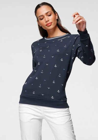 KangaROOS Sweatshirt in verschiedenen maritimen Druck-Varianten