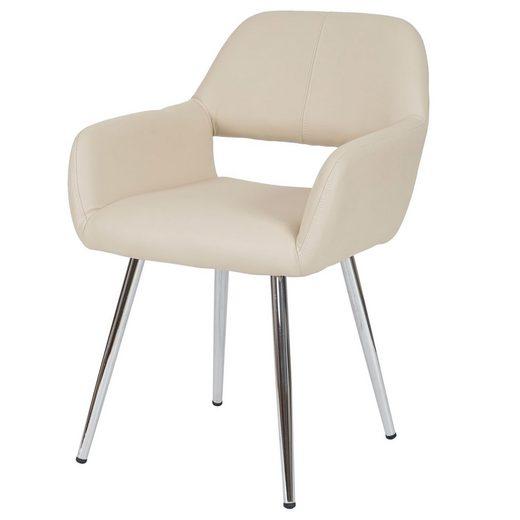MCW Esszimmerstuhl »MCW-A50« Retro Design, breite Sitzfläche, mit Armlehnen, abgerundete Ecken und Kanten