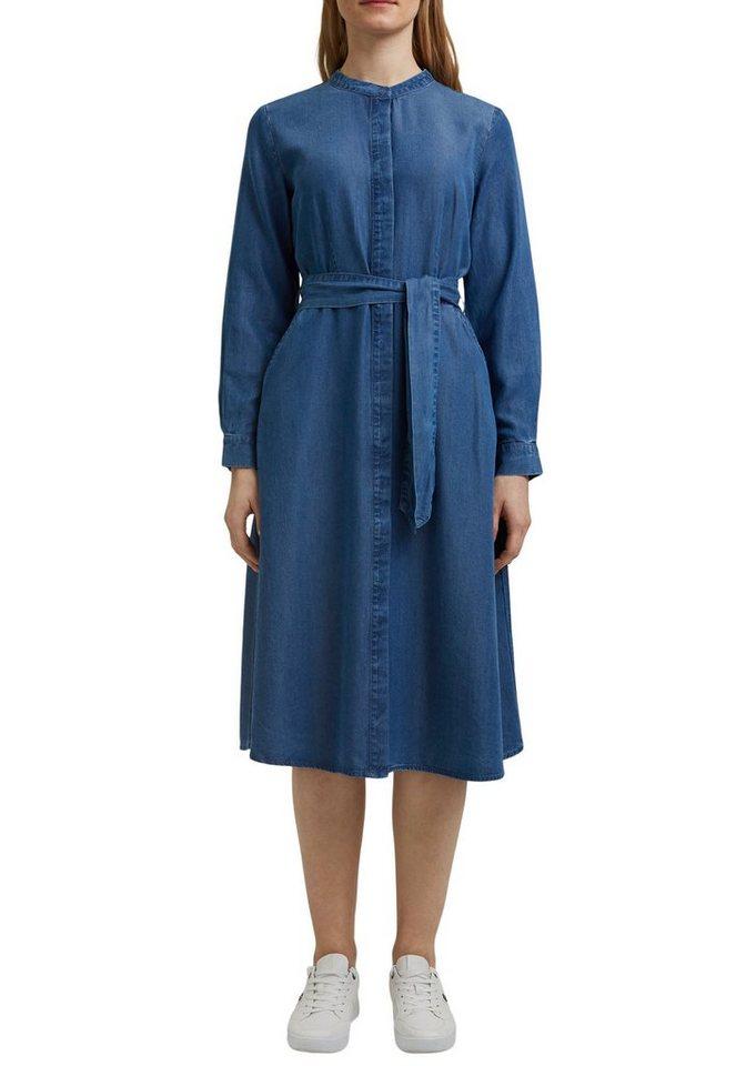esprit collection -  Jeanskleid in modischer Midi-Länge
