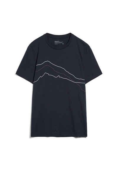 Armedangels Print-Shirt »JAAMES MOUNTAIN LINES Herren« (1-tlg)