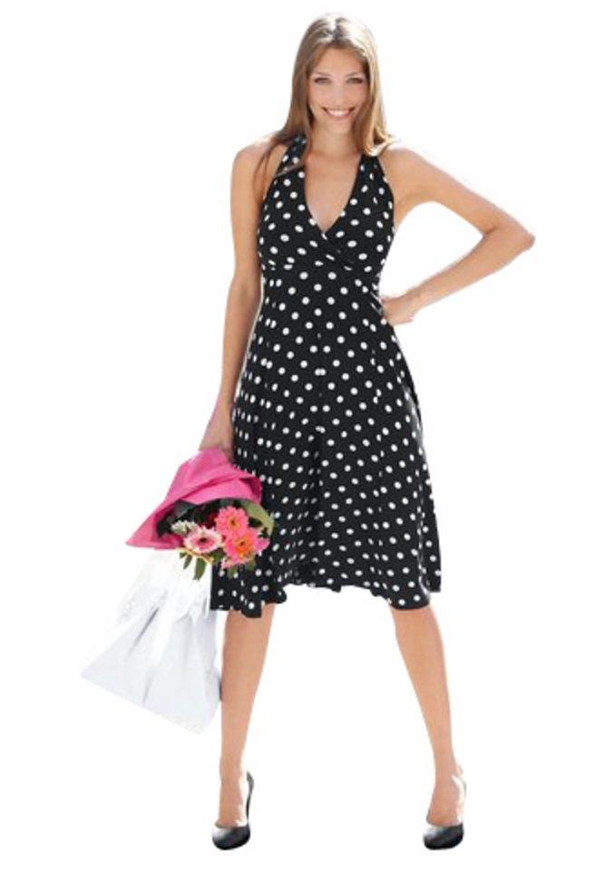 Jerseykleid, VIVANCE COLLECTION in schwarz-weiß