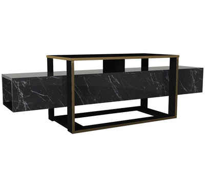 moebel17 TV-Regal »Wohnwand Bianco Marmor Optik«, modernes TV Lowboard in Marmor Optik
