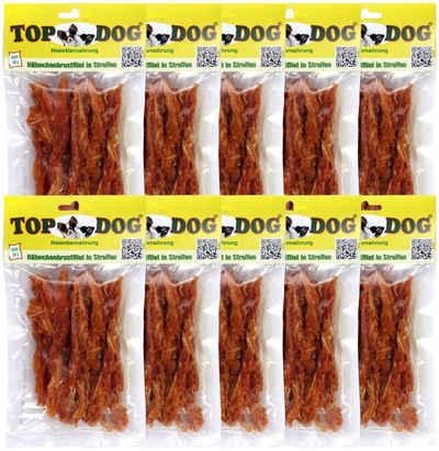 TOP DOG Hundesnack »Hähnchenbrustfilet in Streifen«, 10x 80g