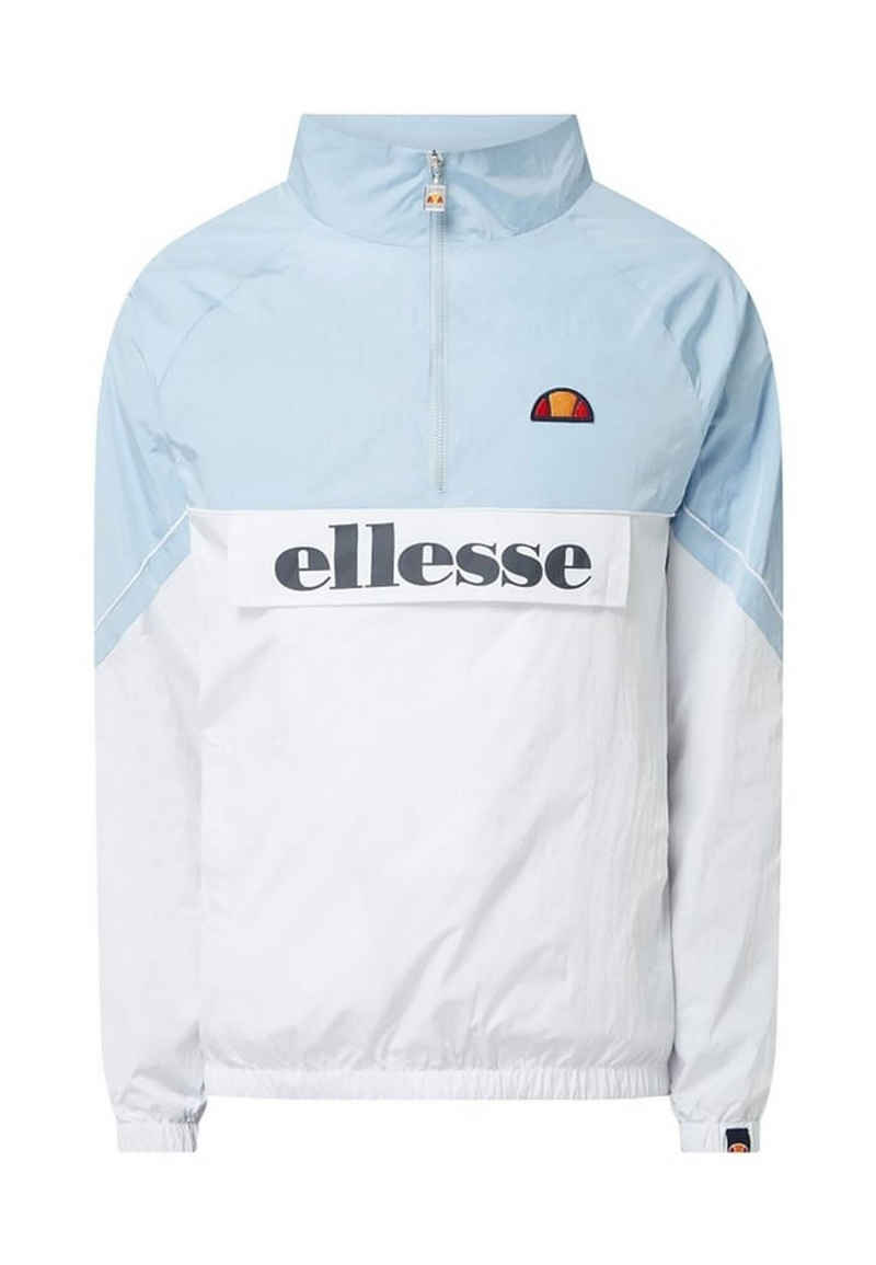 Ellesse Windbreaker »Ellesse Herren Jacke TANTI 1/2 ZIP TRACK TOP Light Blue Hellblau Weiß«
