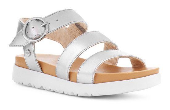 UGG »Leedah« Sandale im Metallic Look
