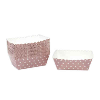 Frau WUNDERVoll Muffinform »Kuchen Backformen, rosa weiße Punkte / Mini Kuchen«, (25-tlg)