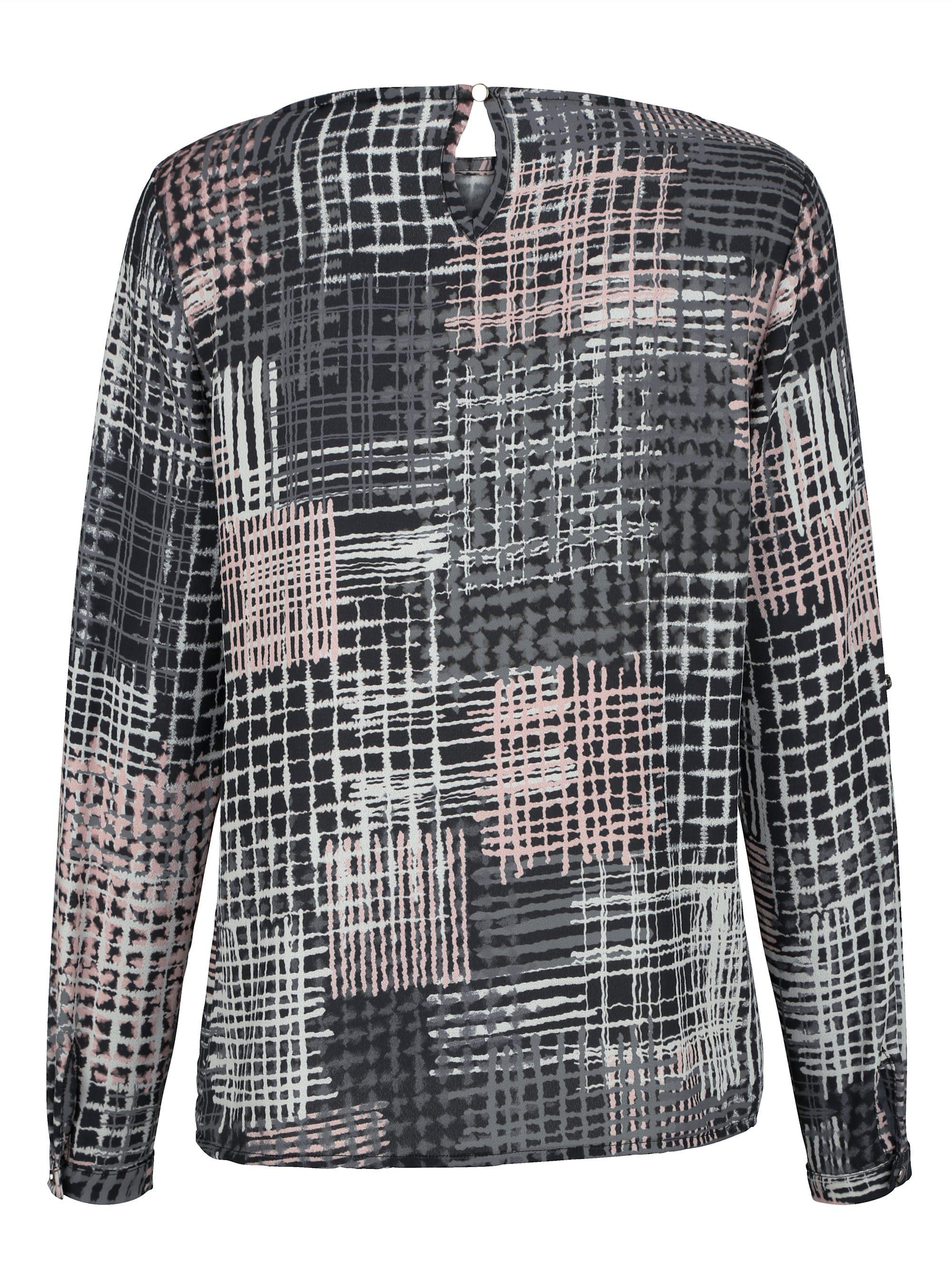 Alba Moda Bluse mit grafischem Dessin, Im Rücken mit Knopf und Schlitz online kaufen hj6vi5 EjH5im