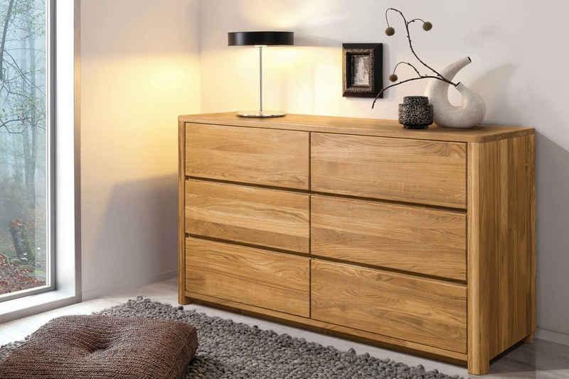 andas Kommode »Scandi«, aus schönem massivem Eichenholz, mit einer praktischen Soft-Close-Funktion