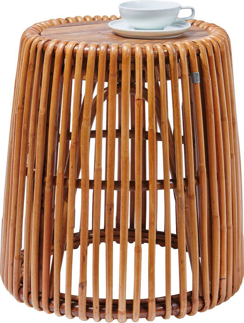 TOM TAILOR Beistelltisch »T-RATTAN SIDE TABLE HIGH«, hoher Beistelltisch aus Rattan mit Platte aus recycletem Teakholz