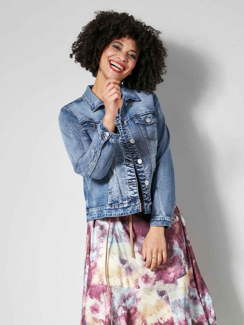 Angel of Style Jeansjacke mit dekorativem Rückenteil