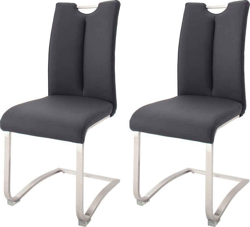 MCA furniture Freischwinger »Artos« (Set, 2 Stück), Stuhl mit Echtlederbezug, bis 140 Kg belastbar