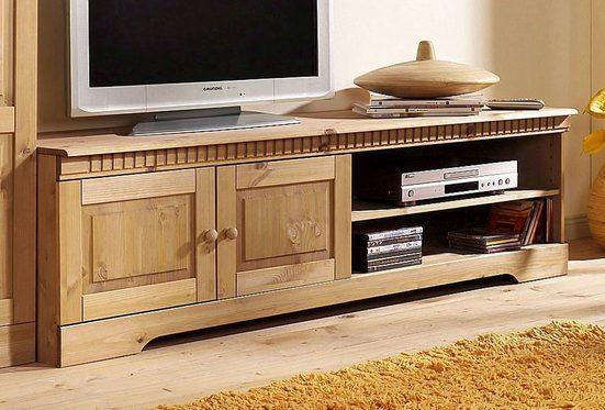Home affaire Lowboard »Cubrix«, aus schönem massivem Kiefernholz, Breite 162 cm