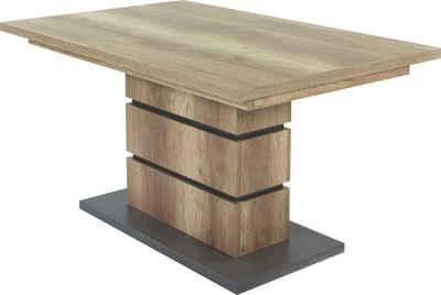 byLIVING Esstisch »Bea«, mit Auszugfunktion, in 2 Breiten 140-190 cm oder 160-215 cm, Einlegeplatte im Tisch verstaubar