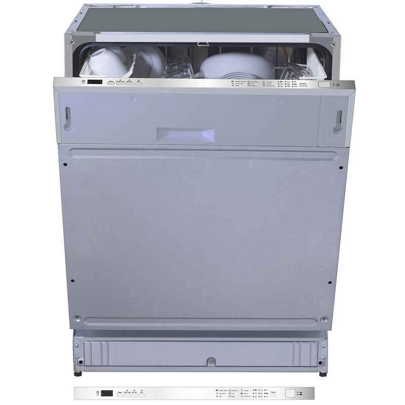 PKM vollintegrierbarer Geschirrspüler, DW12-7FI, Einbau Spülmaschine Spüler DW12-7FI 60 cm