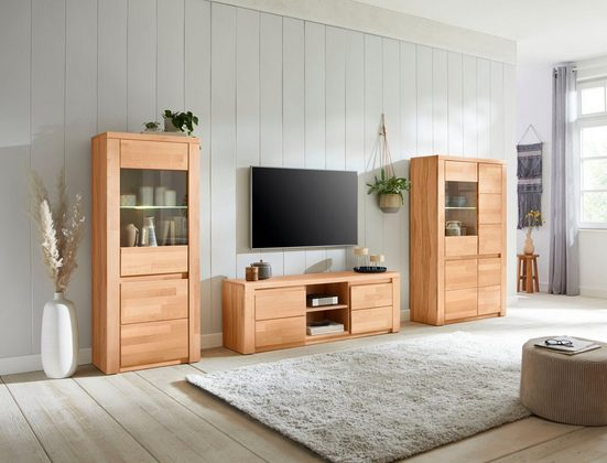 Premium collection by Home affaire Wohnwand »Burani«, (Set, 3-St), teilmassives Holz