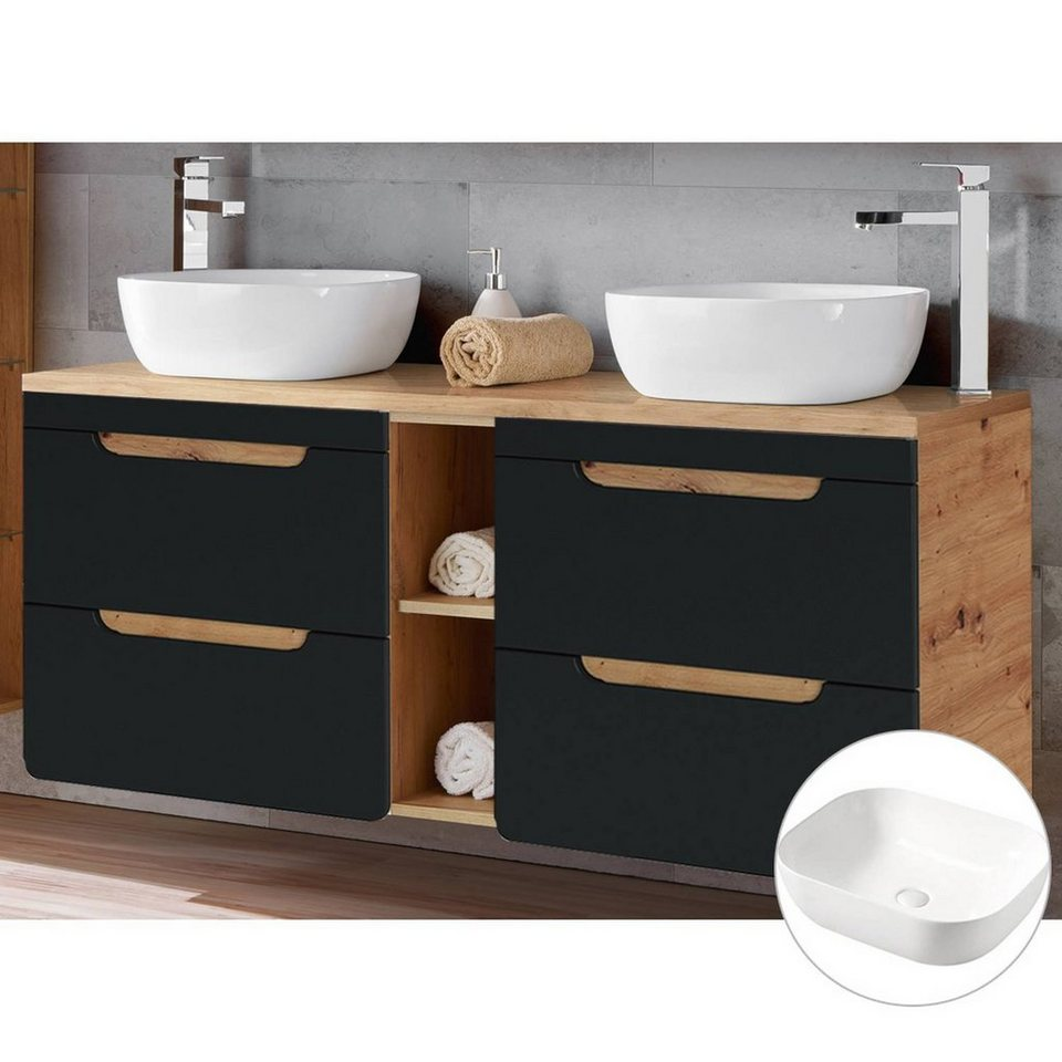 BADELO Doppelwaschtisch »NEW LUTON«, Badezimmer Waschtisch mit ...